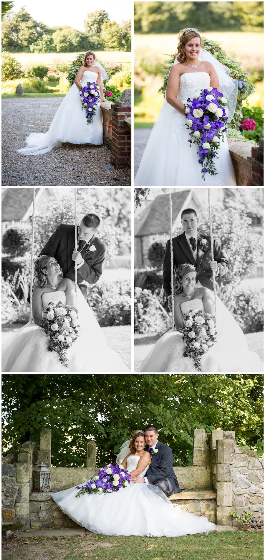 purple themed wedding solton manor